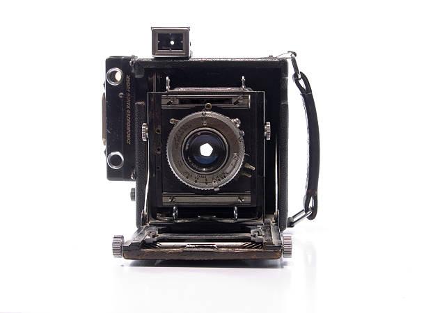 Vintage Press Camera stock photo