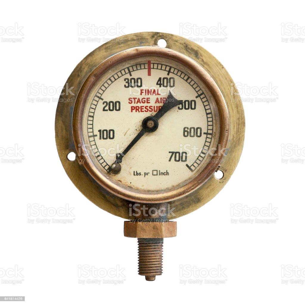 Vintage Pressure Gauge stock photo