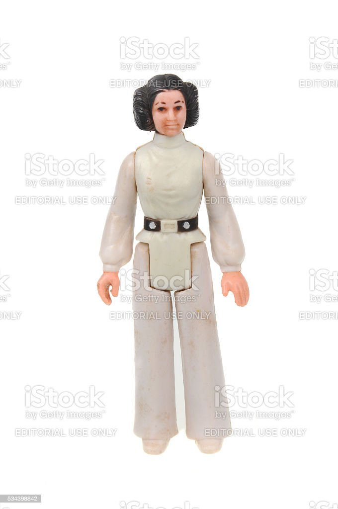 Vintage Princess Leia Action Figure stock photo