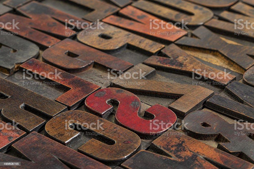 vintage printing blocks stock photo