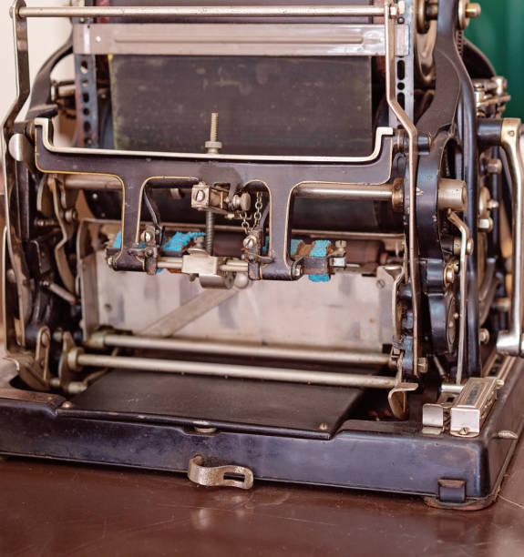 vintage-druckmaschine - oz verlag stock-fotos und bilder