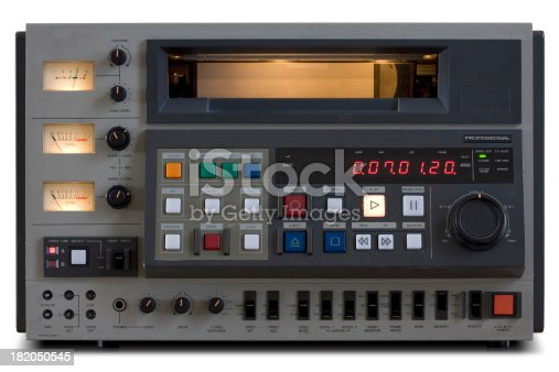 An old High band (U-Matic) video edit recorder. Saved with path.See below for related images from my portfolio: