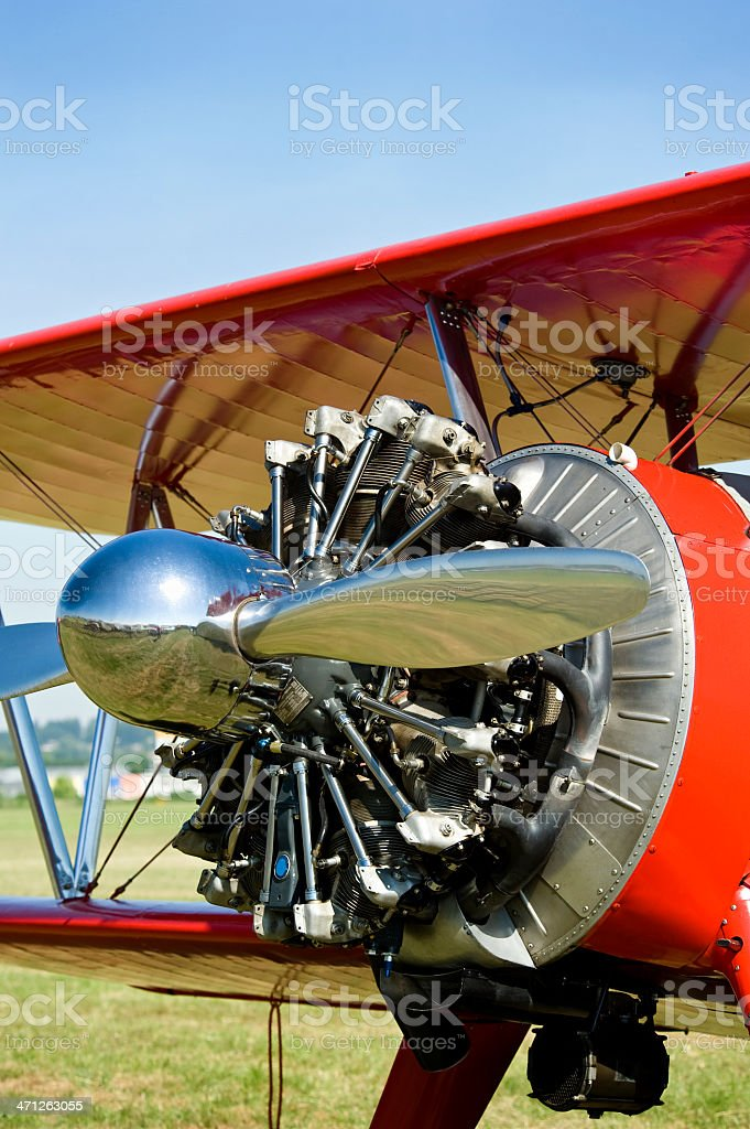 Vintage propeller airplane from the 1930s royalty-free stock photo