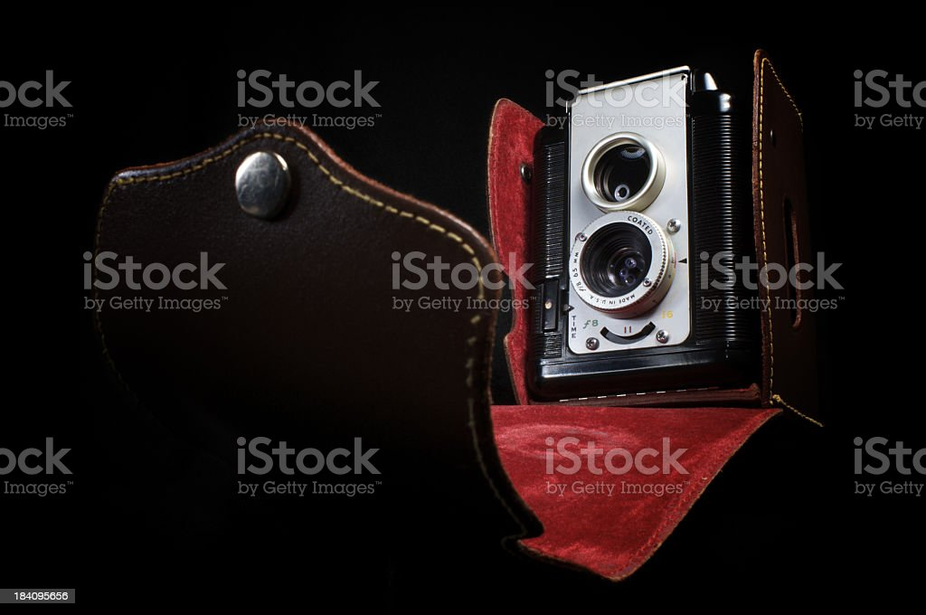 Vintage Pseudo TLR Camera stock photo