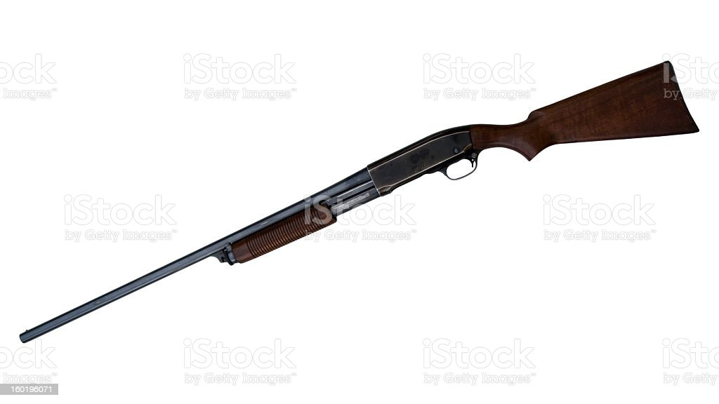 Vintage Pump Shotgun royalty-free stock photo
