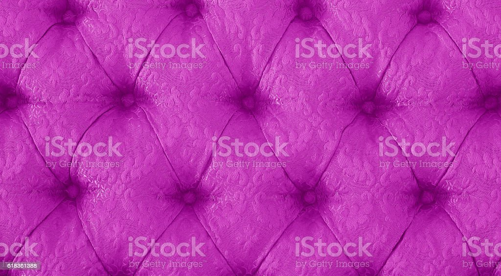 Vintage purple Sofa Button for textured background stock photo