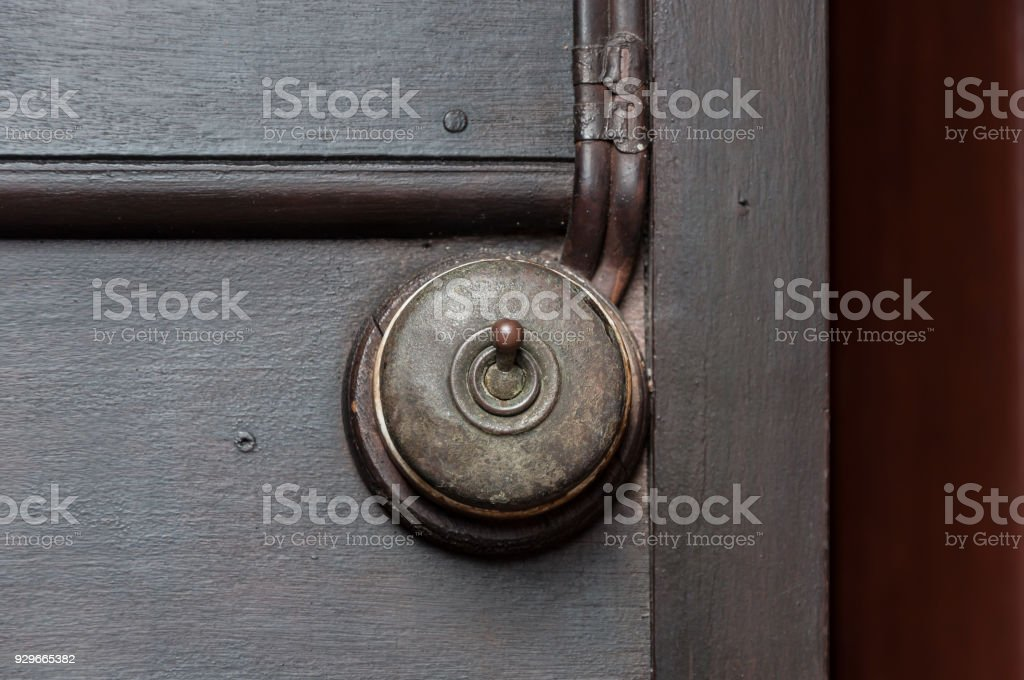 Vintage Put Light Switch On Wooden Wall Stock Photo & More Pictures ...