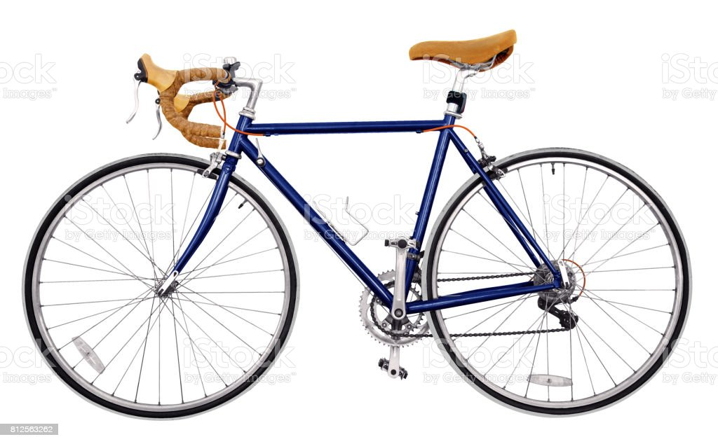Vintage Race Road Bike Navy Blue Sky Bicycle Classic Style Modified ...