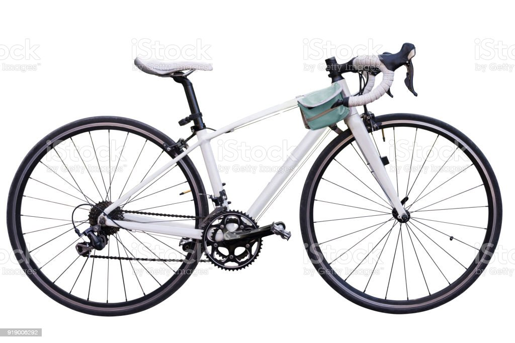 Vintage Race Road Bike White Bicycle Classic Style Modified Spare ...