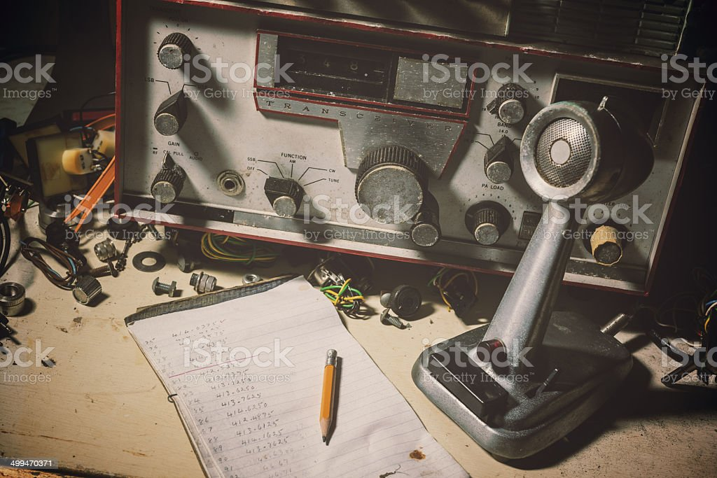 Vintage Radio Broadcasting stock photo