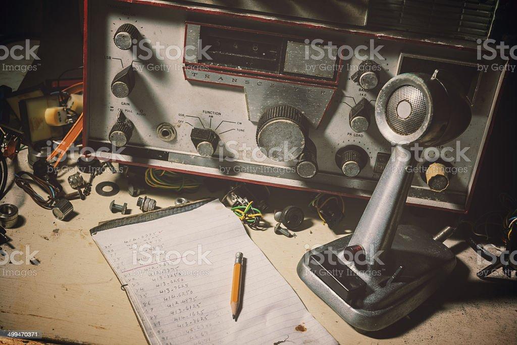 Vintage de radiodifusão - foto de acervo