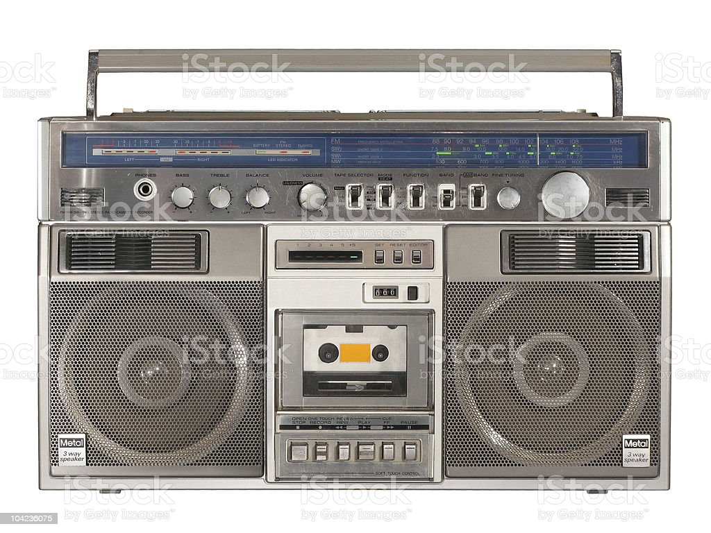 Vintage Radio Cassette Recorder Boombox royalty-free stock photo