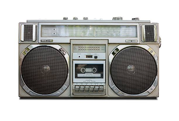 Vintage Radio Cassette Recorder Boombox stock photo