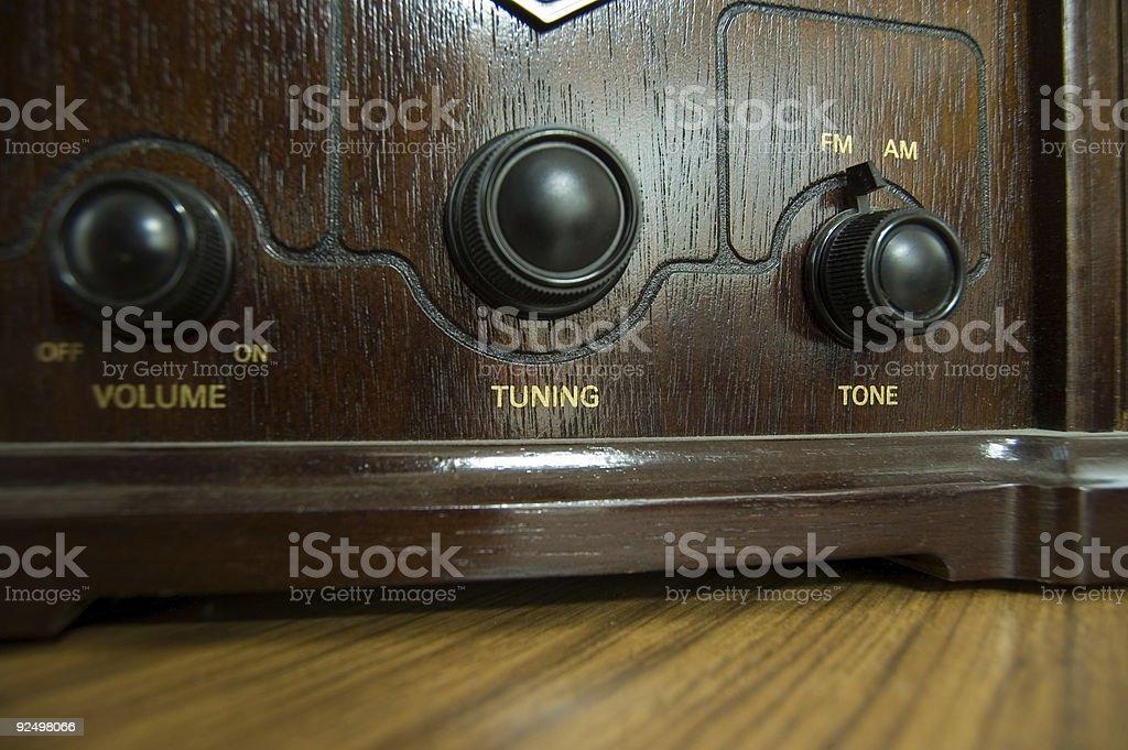 Vintage Radio Dials royalty-free stock photo