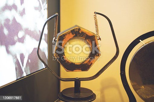 1065736660 istock photo vintage radio microphone with color background 1206517851