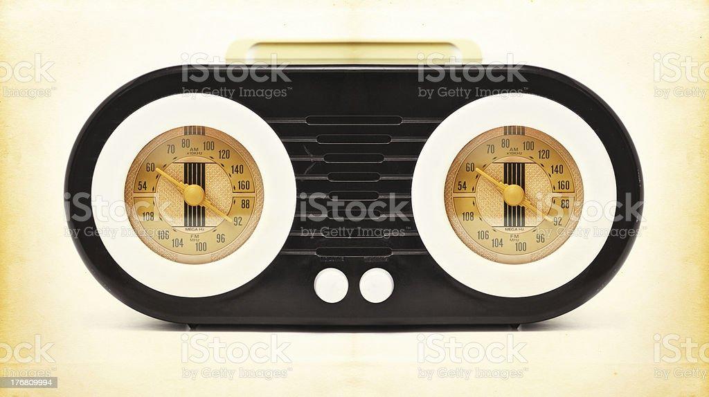 Vintage Radio on Old Paper royalty-free stock photo