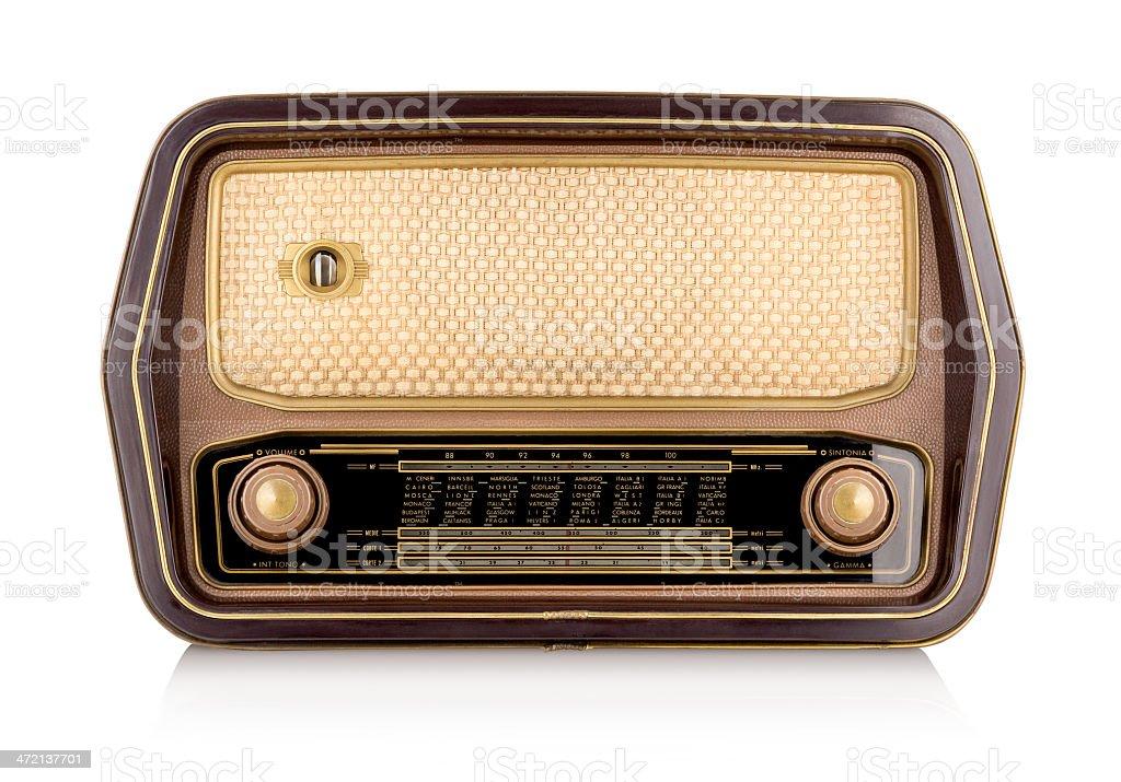 Vintage Radio (Clipping Path) stock photo