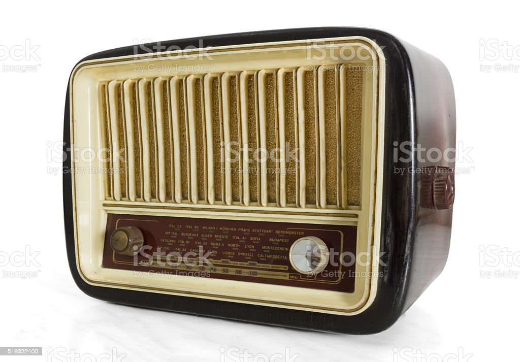 Vintage Radio Tuner stock photo