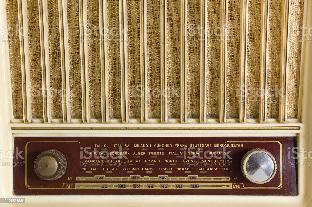 Vintage Radio Tuner stock photo