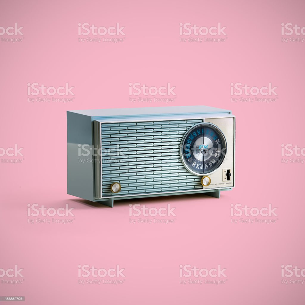 Vintage Radio With clipping Path stock photo