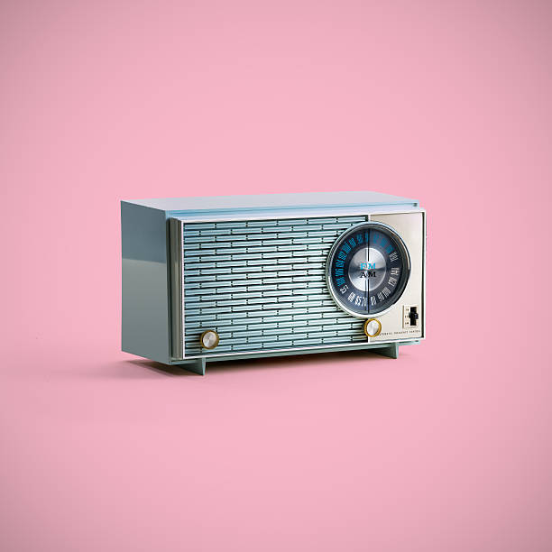 Vintage Radio mit clipping Path – Foto