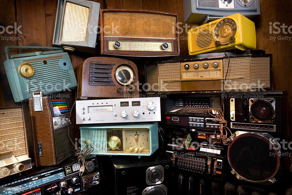 Vintage Radio's stock photo