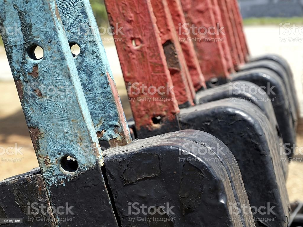 Vintage Railroad Switches royalty-free stock photo