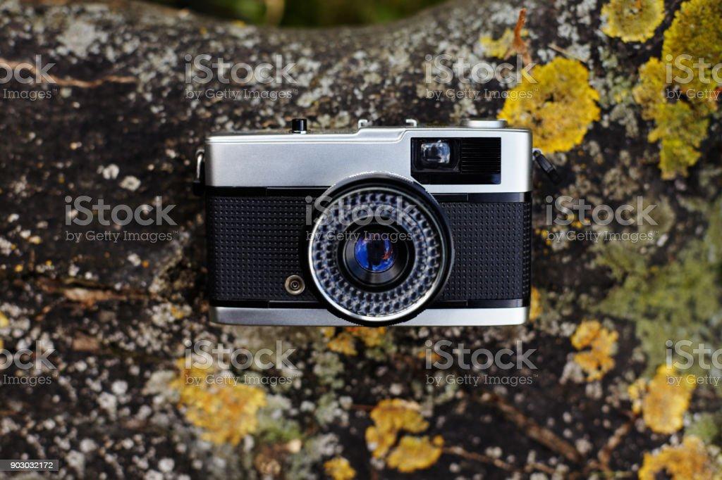 Vintage Rangefinder Film Camera Stock Photo - Download Image