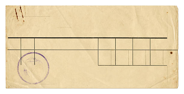 vintage receipt - rubber stamp texture stock photos and pictures