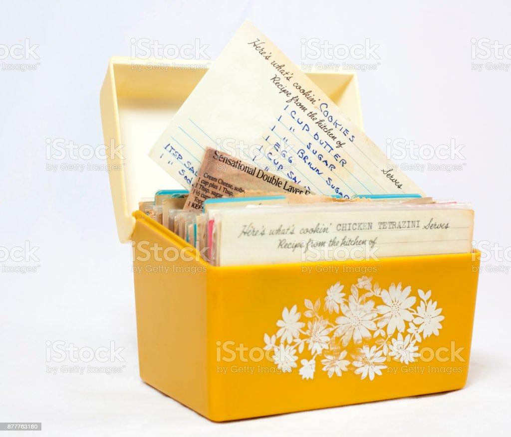 Vintage Recipe Box stock photo