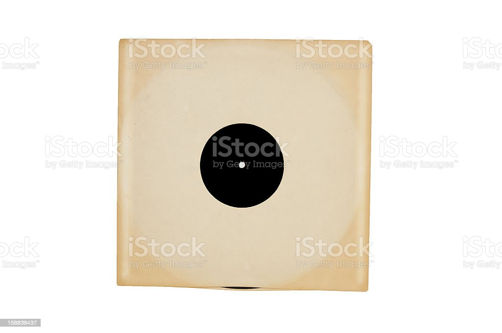 Vintage Record in Sleeve stock photo