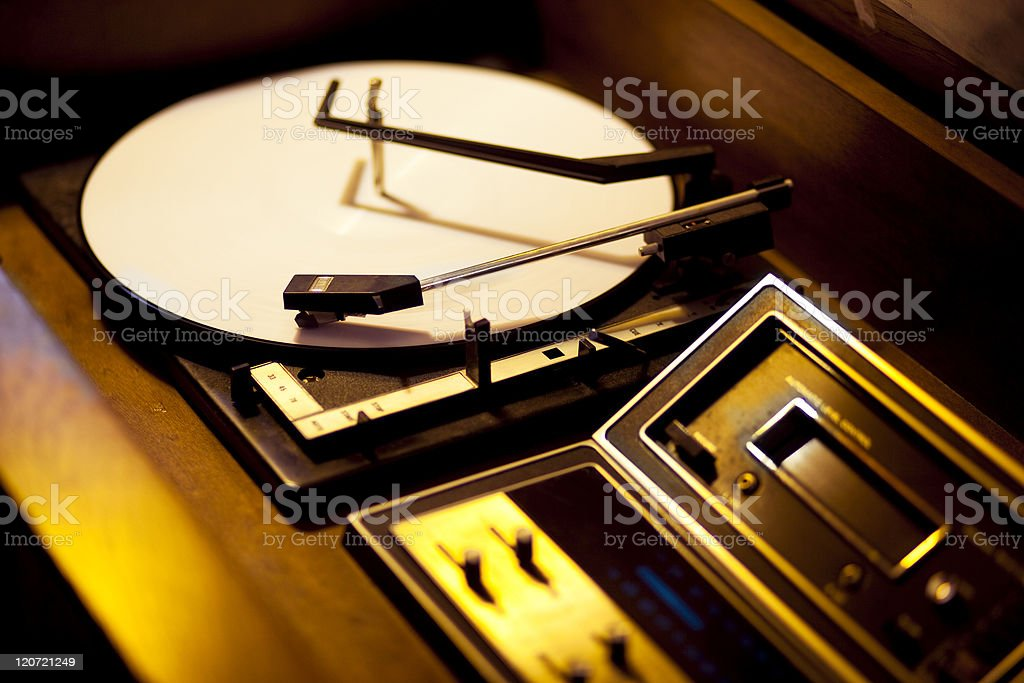 Vintage Record Player royalty-free stock photo