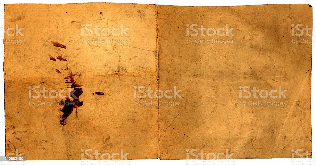 vintage rectangular paper stock photo