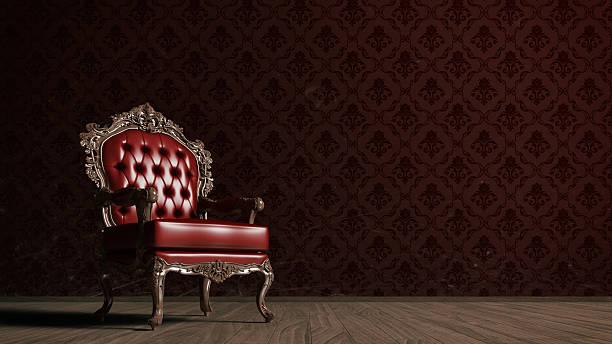 vintage roten sessel - sessel retro stock-fotos und bilder