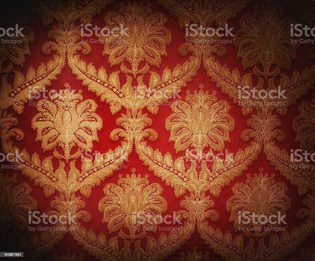 Vintage red background with brown repeated patterns royalty-free stock photo