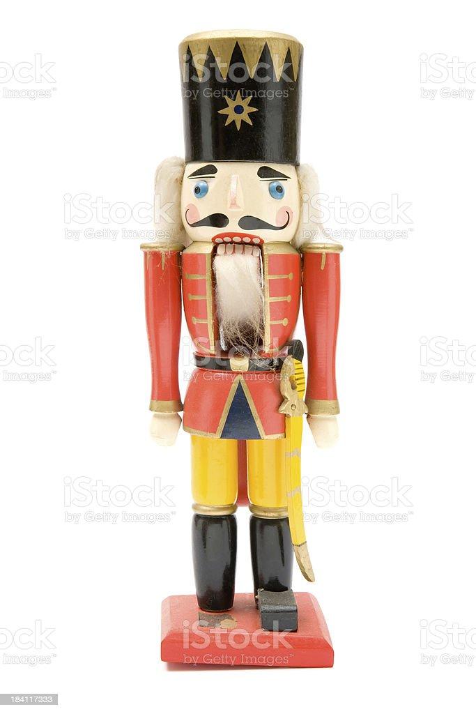 Vintage Red Nutcracker Soldier stock photo