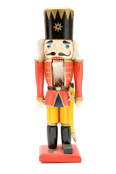 Vintage Red Nutcracker Soldier stock photo