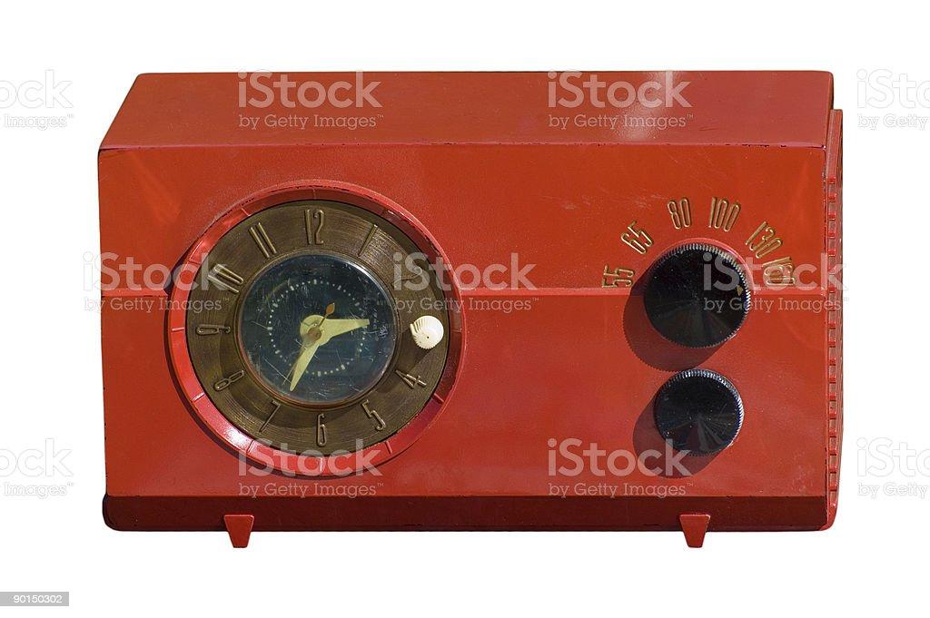 vintage red radio stock photo