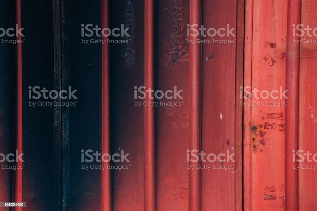 Vintage syle red shutter door background stock photo