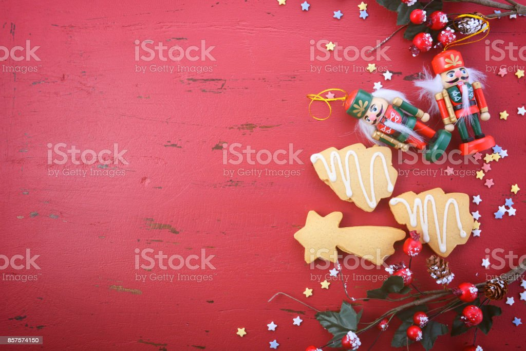 Christmas In Australia Background.Vintage Red Wood Background Christmas Holiday Background