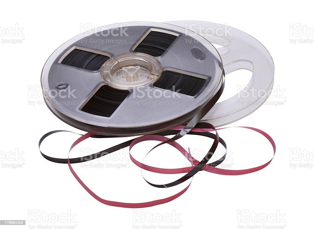 Vintage Reel of Audio Tape stock photo