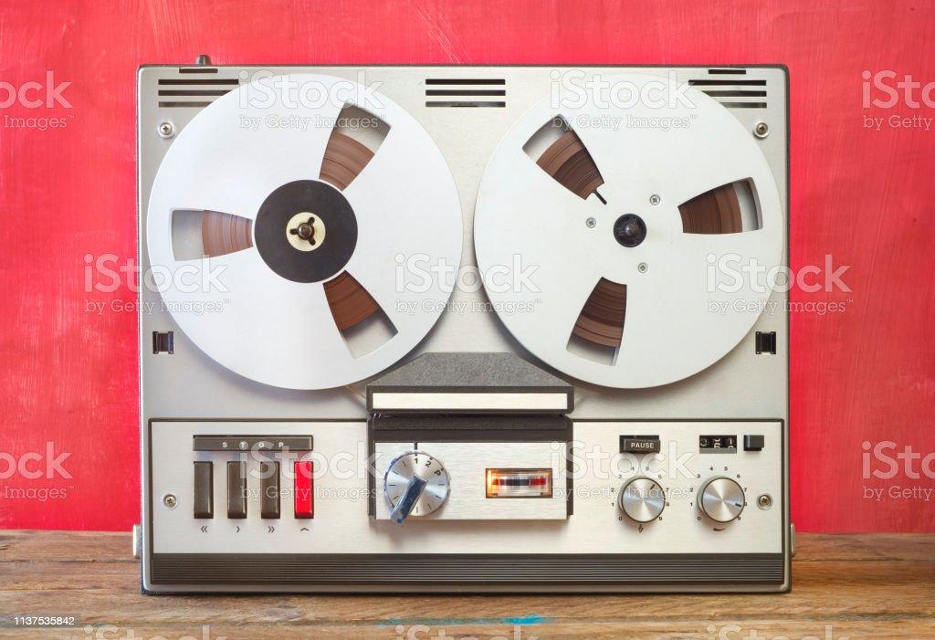 vintage reel to reel tape recorder, nostalgic audio gear