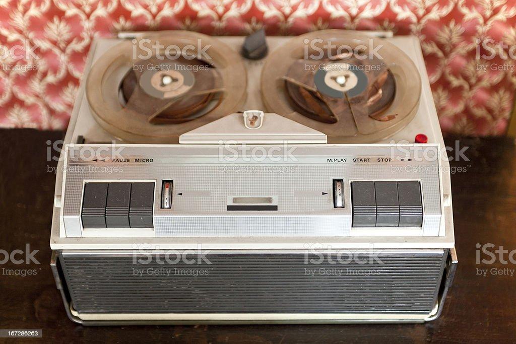 Vintage Reel-to-Reel Tape Player stock photo