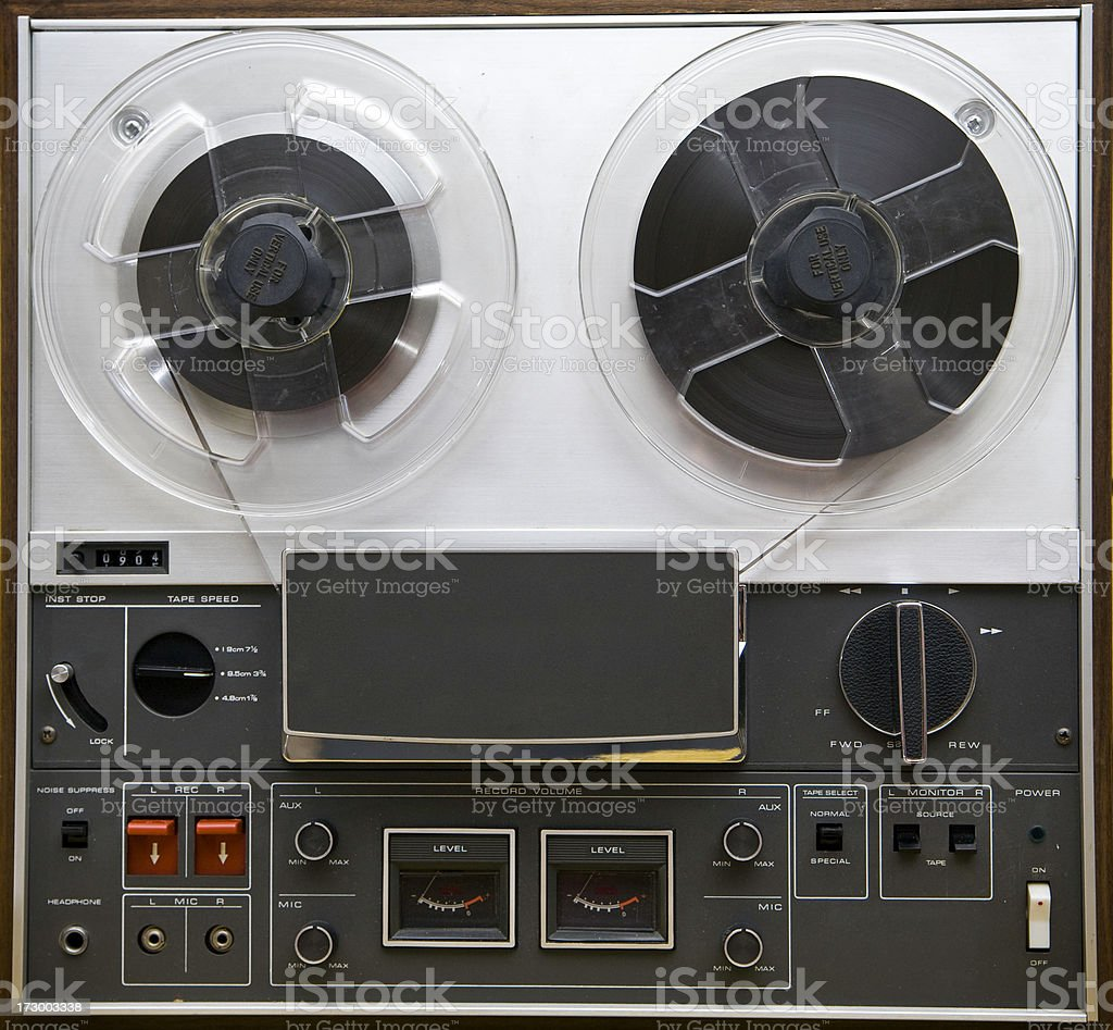 Vintage Reel-to-Reel Tape Player royalty-free stock photo