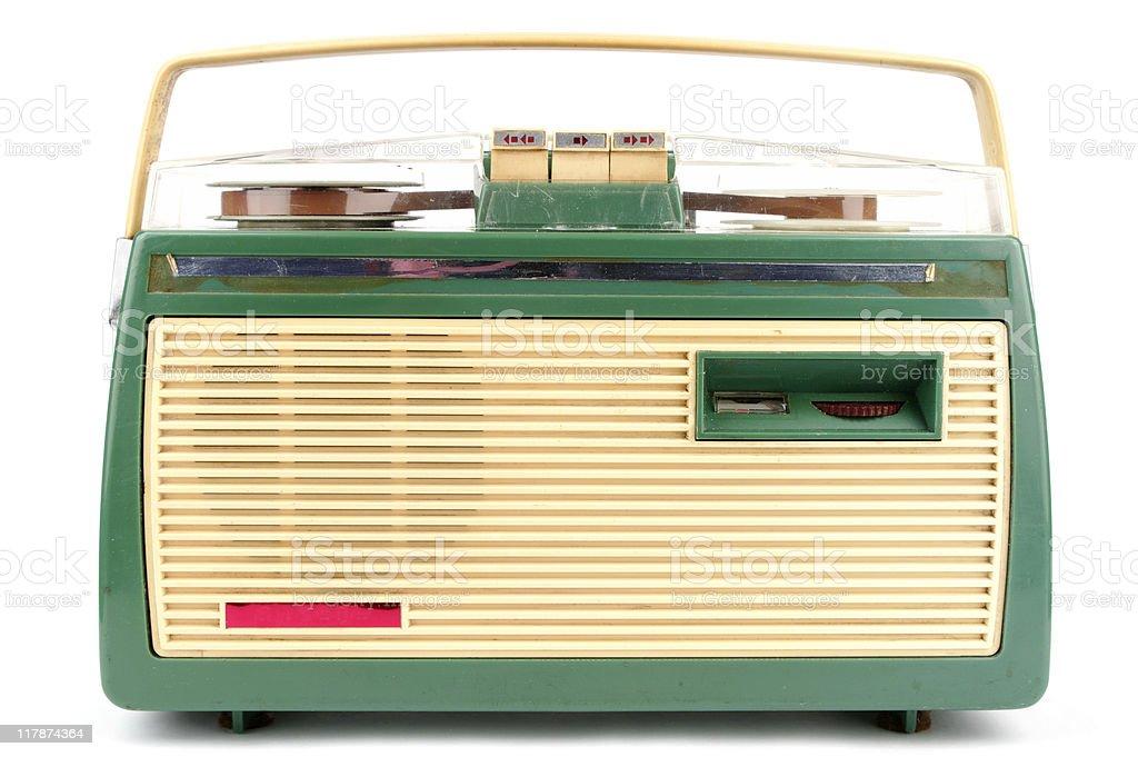 Vintage Reel-To-Reel Tape Recorder royalty-free stock photo