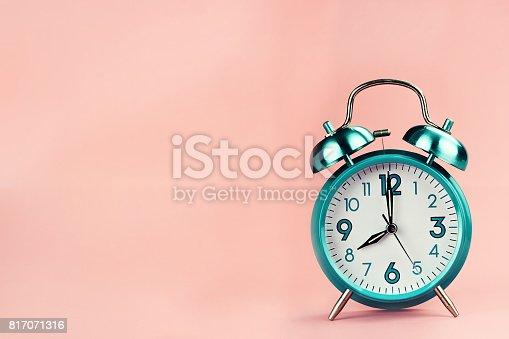 istock Vintage Retro Alarm Clock 817071316