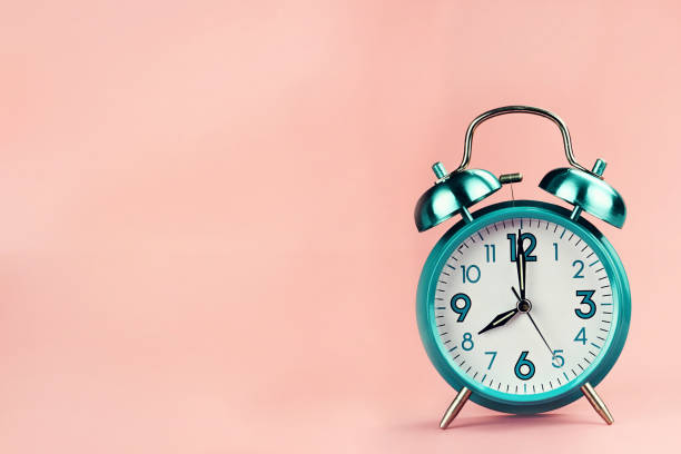 Vintage Retro Alarm Clock stock photo