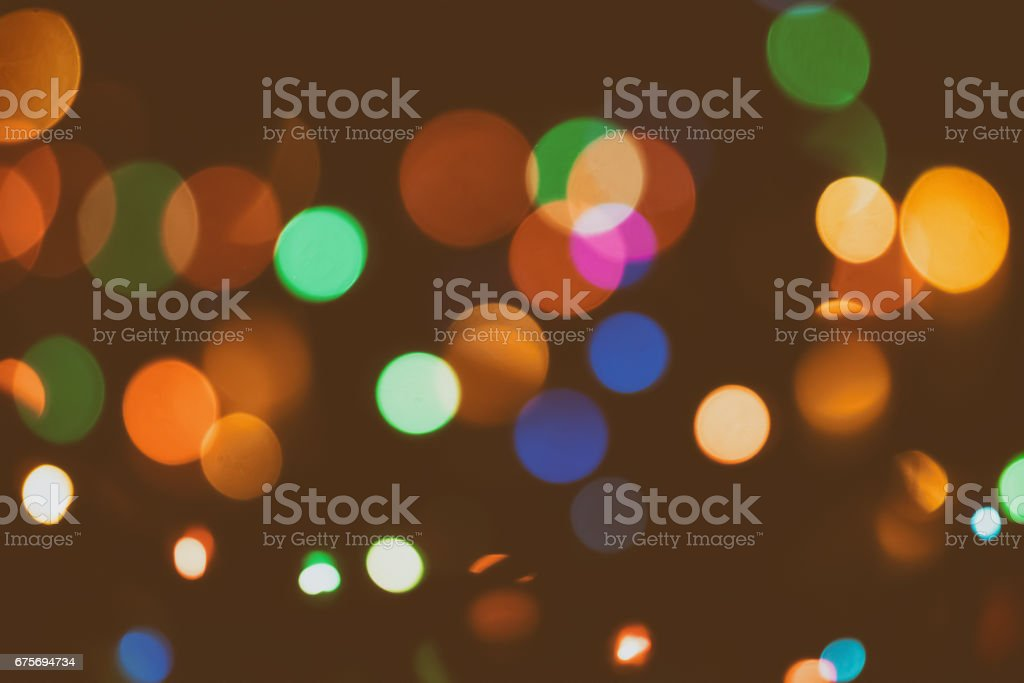 Vintage retro blur bokeh light. Film look abstract background. royalty-free stock photo