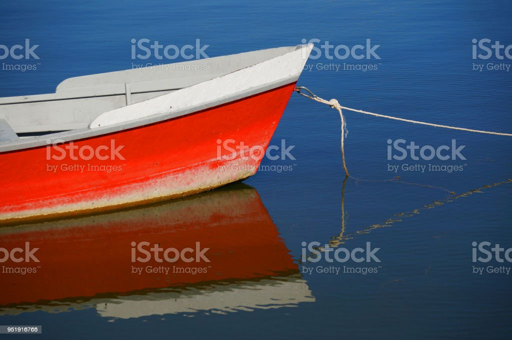 Vintage retro classic old sailboat on a water background. Travel, vacation, voyage, adventure, fisching, tourism concept stock photo