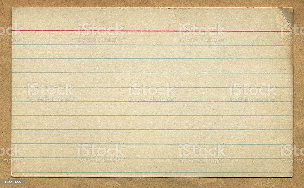 Vintage Retro Index Card Design Element stock photo